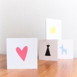 Petites cartes de souhaits